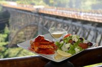View of the Victoria Falls Bridge from the Bridge Cafe