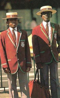 Prince Edward School pupils in Zimbabwe