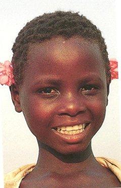 Smiling youg girl in Zimbabwe
