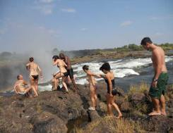 Livingstone Island Tour and Devils Swim done only during Zambezii's low water from the Zambian side of the Victoria Falls
