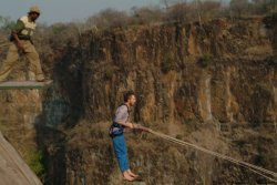 Epic Gorge swing at Wild Horizons lookout in Victoria Falls, Zimbabwe