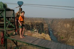 Flying Fox in Victoria Falls, Zimbabwe