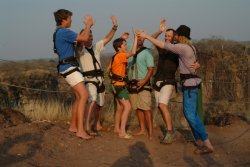 Fun at the Lookout in Victoria Falls, Zimbawe
