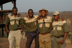 Friendly Wild Horizons staff at the Lookout in Victoria Falls