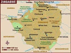Map of Zimbabwe
