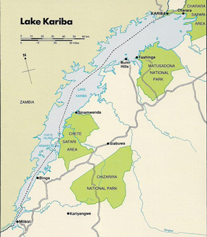 Map of Kariba