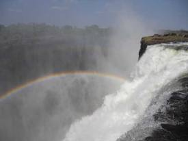 Watch the water go down from the Devils pool, Victoria Falls