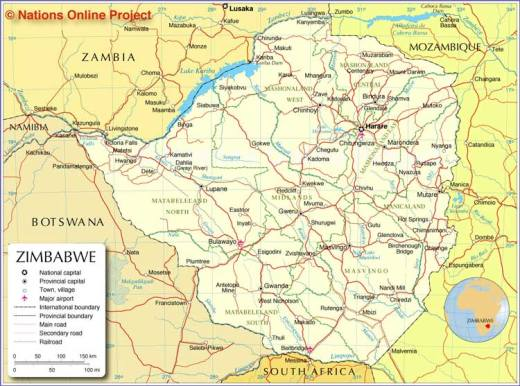 Map of zimbabwe zimbabwe map gumiabroncs Gallery