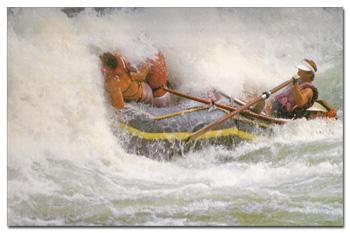 Zambezi River rafting in 1986