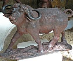 Buffalo Ironwood Carving