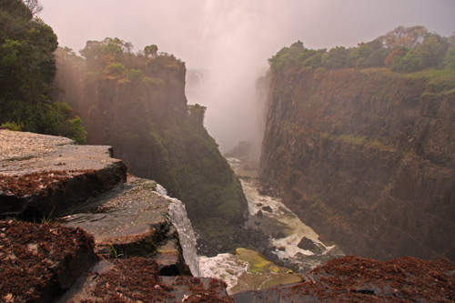 The view from near David Livingstone's Statue - Victoria Falls