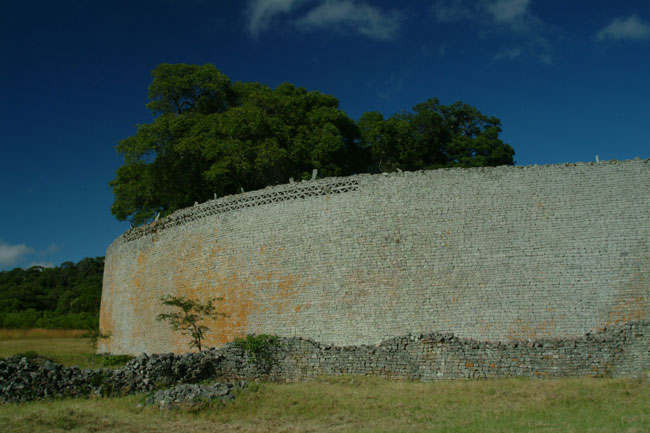 The impressive walls of the Great enclosure 11m high and 5m thick at the base