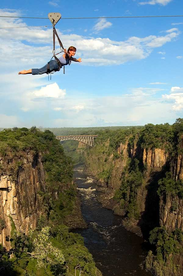 High Wire Activities in Victoria Falls - Bungee, Swing ...