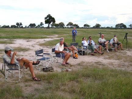 Taking a breather during a multi-day safari in Zimbabwe