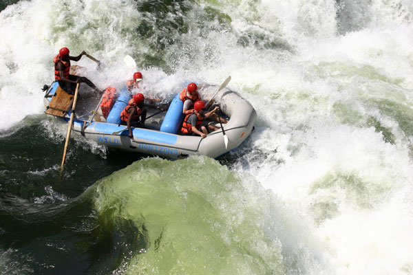 Rafting on the Zambezi River