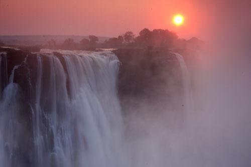Sunrise over the Victoria Falls - Zimbabwe