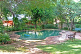 Poolside at Lorries - budget Victoria Falls accommodation