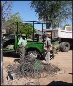 These are snares that have been recovered for the National Park and 