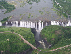 Tour of Victoria Falls Ariel view