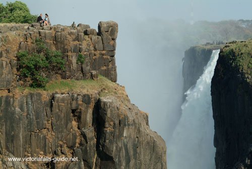 Danger Point has no barriers - Victoria Falls, Zimbabwe