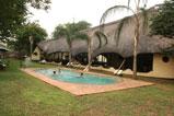 Adventure Lodge poolside - Victoria Falls Accommodation