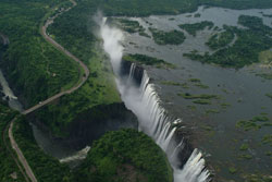 Ariel view of Victoria falls