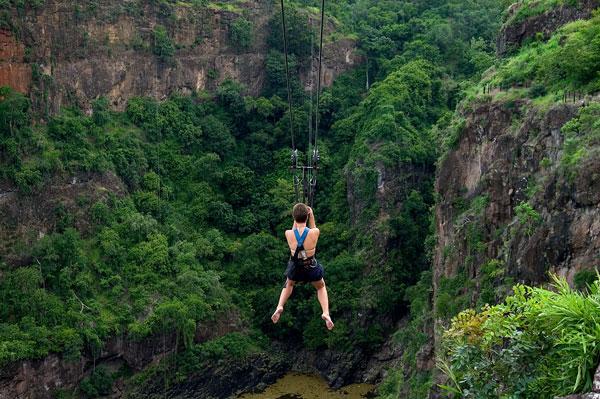 Zipline across the gorge