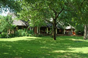 Beautifully manicured lawns at Imbabala Safari Lodge