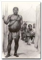 A depiction of King Lobengula of the Matebele
