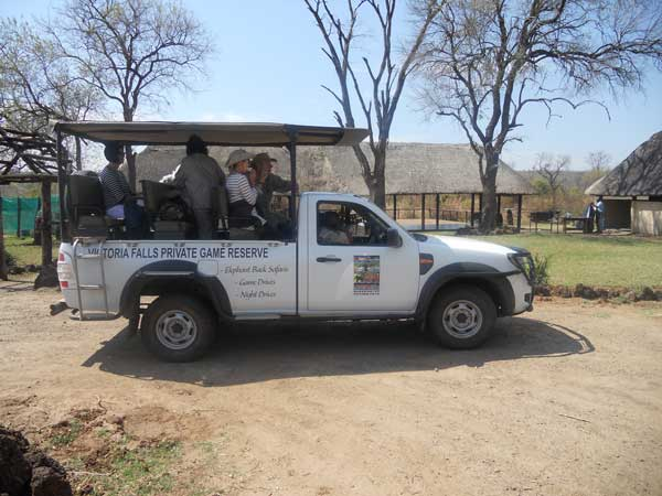 Game drive on the reserve