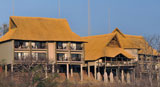 The view of the front of Victoria Falls Safari Club - luxury Victoria Falls accommodation