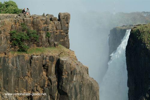 Danger point Victoria Falls