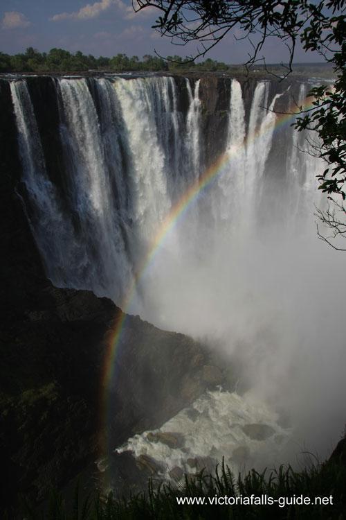Victoria Falls Main Falls with rainbow