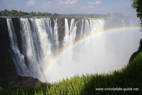Afternoon picture of the Main Falls section of the Victoria Falls, Zimbabwe