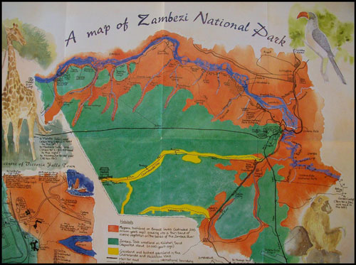 Zambezi national park map