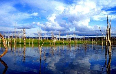 Lake Kariba in Zimbabwe