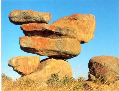 Balancing rocks in Zimbabwe