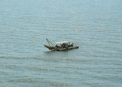 Kapenta rig on Lake Kariba