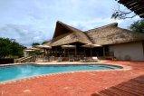 The main building at Explorers Village in Victoria Falls, Zimbabwe