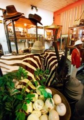 Various curios, jewelery and more at Elephant's Walk, Victoria Falls
