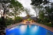 The pool at Masuwe Lodge in Victoria Falls, Zimbabwe