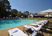 The pool at Royal Livingstone Hotel, Victoria Falls, Zambia