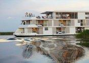 Zambezi Queen sailing the Chobe River