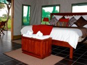 Inside a luxurious room Bomani Tented Lodge