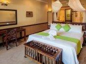 Inside a luxury room at Chobe Safari Lodge in Botswana