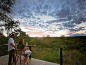 The view of the bush from Masuwe Lodge in Victoria Falls, Zimbabwe