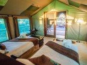 Inside a tented room at Pom Pom Camp in the Okavango Delta - Botswana
