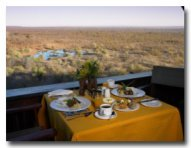 The award winning Makuwa-kuwa Restaurant at Victoria Falls Safari Lodge - Victoria Falls
