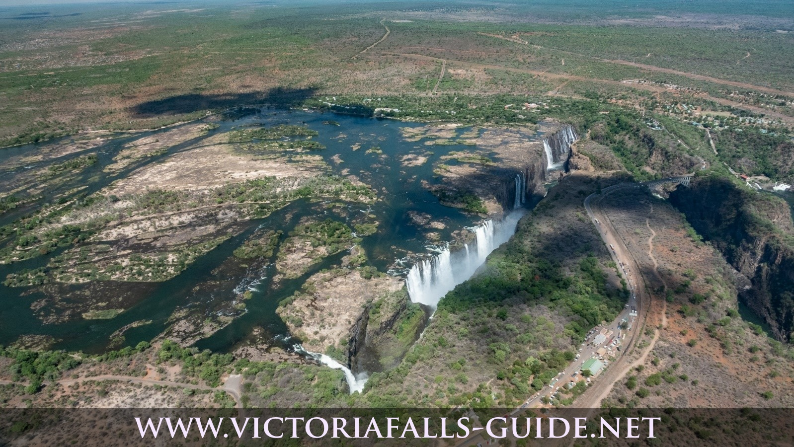 Aerial picture of the Victoria Falls taken 19 November 2019
