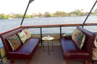 Comfortable seating aboard The Victoria, Zambezi river cruises, Victoria Falls, Zimbabwe